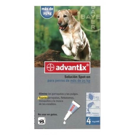 Advantix pipetas antiparasitarias 4x4ML para perros de más de 25kg
