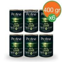 Profine latas Cordero 6x400gr