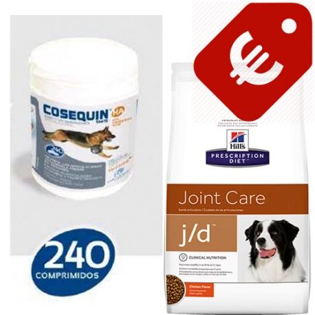 PACK + HILL´S Prescription Diet Canine j/d seco 12kg + Cosequin HA 240