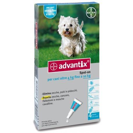 Advantix pipetas antiparasitarias 6x1ML para perros 4-10kg