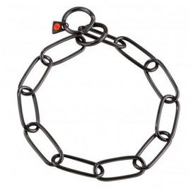 Sprenger Collar Eslabón Largo - Acero Inoxidable Negro  72 Cm X 4 Mm